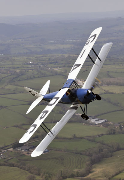 Tiger Moth turning