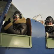 tiger moth pilots getting ready