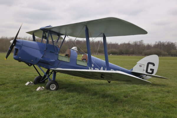 parked tiger moth g-adpc