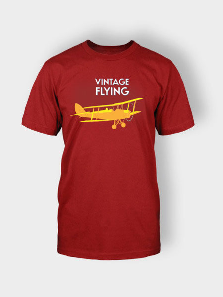 vintage flying t-shit red