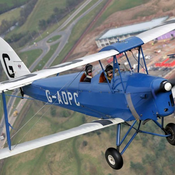 tiger moth experience flight over a town
