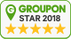 Groupon 5 star badge